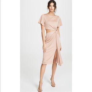 NWT RACHEL ZOE Pauline Dress Blush Pink Metallic
